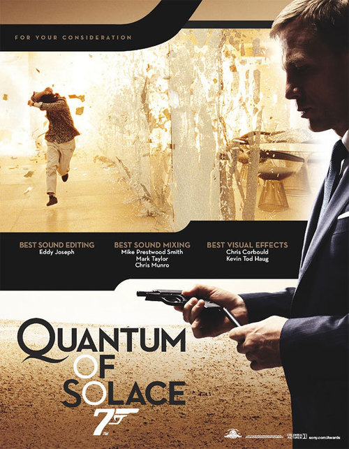 quantum of solace essay The 22nd 'official' james bond film, quantum of solace, is one of the most underrated of the series this essay looks at the film's part in the bond legacy, and in.